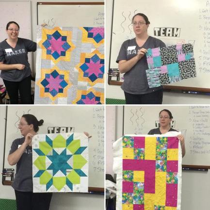Sarah shows us a few of her projects going on her UFO passport. We can't wait to see them finished.