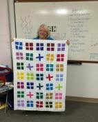 Marcia shows us her bright and cheery positive and negative plus quilt.
