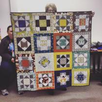 Kathy shares a COMPLETED Color Party quilt top she made from Jessica Darlings workshop on color placement.