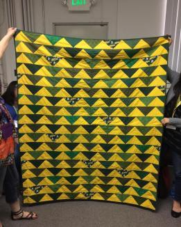 At tonight's meeting some of us shared our first quilt! This one was pretty awesome for a firstie! by siliconvalleymqg