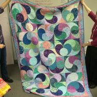 Diana tackled curves for her first quilt! She did such a great job! by siliconvalleymqg