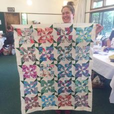 Gabriella finished this beautiful quilt top today! 👏🏼 #gettinit #svmqgretreat by siliconvalleymqg