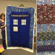 Show and Tell %0AMay 2016%0A%0AFor all you Whovians out there! #modernquilting #quilt #quilting by siliconvalleymqg