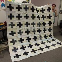 Show and Tell, May 2016 I spy @luckycharm93635 with this fabulous quilt! #modernquilting #quilt #quilting by siliconvalleymqg