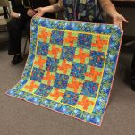 Show and Tell, May 2016%0A%0ATwo of our members worked on this quilt and it'll be donated to our philanthropy, Quilts for Kids! #quilting #quilt #modernquilting by siliconvalleymqg