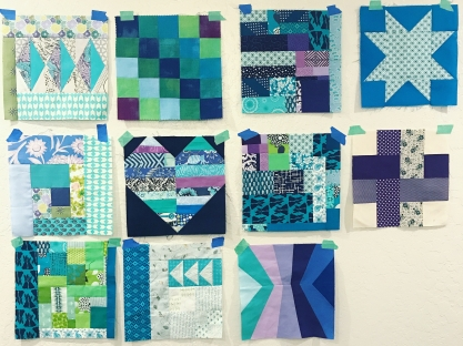 warm color charity blocks